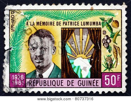 Postage Stamp Guinea 1962 Patrice Lumumba And Map Of Africa