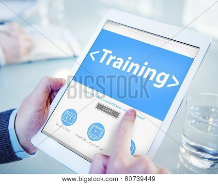 Digital Online Training Mentoring Learning Education Browsing Concept