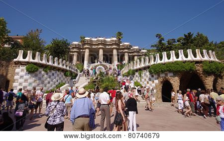 Guell park in Barcelona, Spain