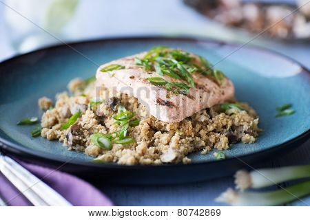 Salmon With Cauliflower Rice
