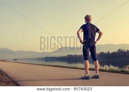 Runner On The Start Of Distance