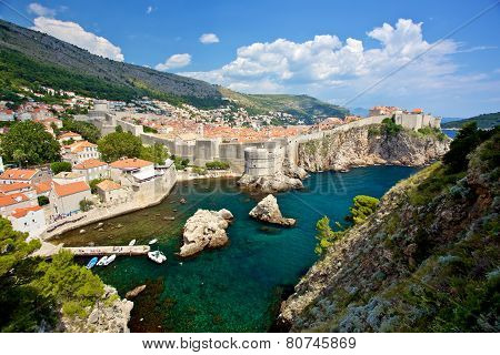 Dubrovnik Old City Walls In Croatia
