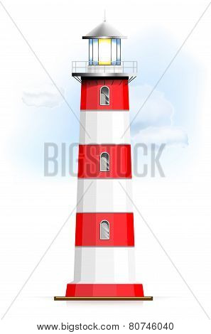 Lighthouse With Sky And Clouds