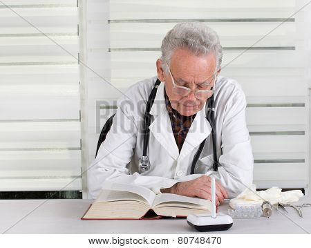 Doctor Reading Book