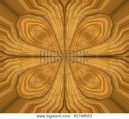 abstract ornate wood design with lignum vitea