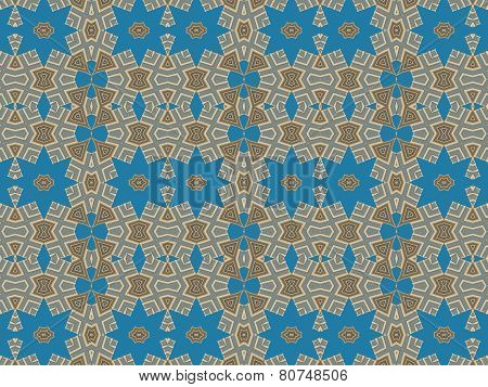 Ethnic Pattern Abstract Kaleidoscope Fabric Design.
