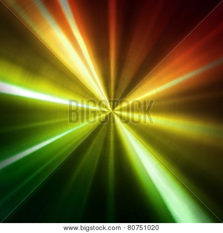 metal plate with colorful stripes