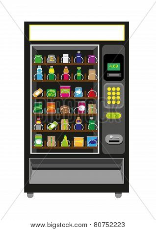 Vending Machine Illustration in Black color