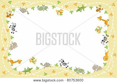 Card with funny animals