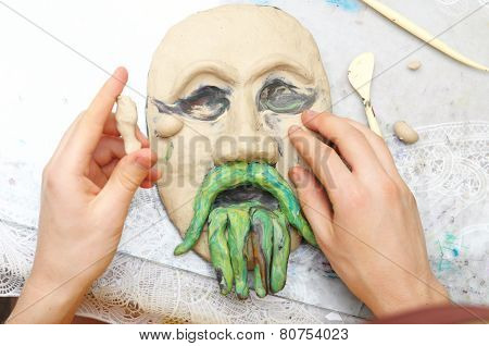 Sculpting Plasticine Form