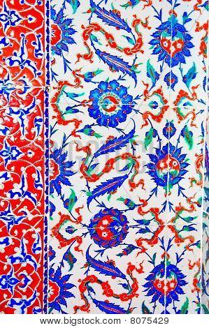Iznik Tile Colorful Ornamental Details