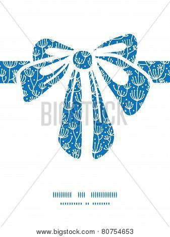 Vector blue white lineart plants gift bow silhouette pattern frame