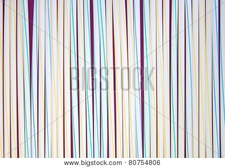 Set of white and colored drinking straws. Background.