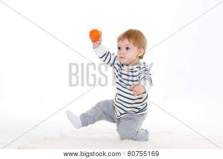 Little Baby With Ball.