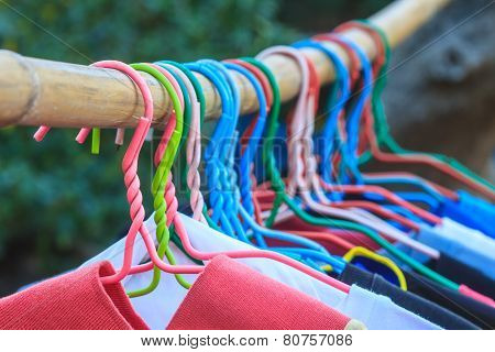 Shirts Hanging On Clothes Line