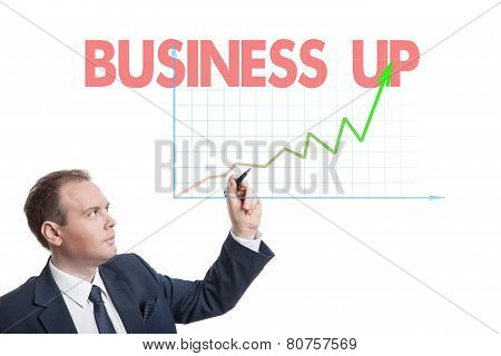 Businessman Drawing Chart