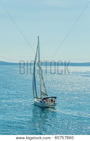 Sailing Adriatic sea