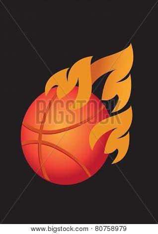 Basketball Fury Vector Illustration