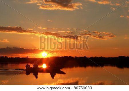 Jon Boat Sunset