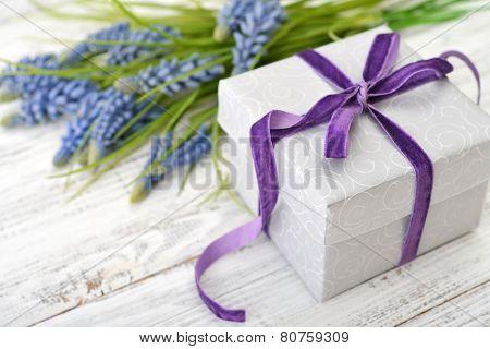 Gift Box With Hyacinth