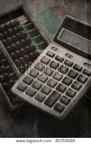Accountants era before digital system. classic style