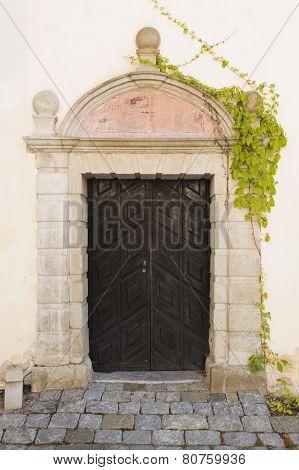Beautiful Vintage Door And Creeper,vasteras, Sweden, Europe