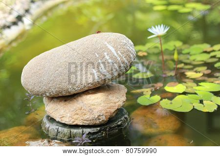 Stones in garden