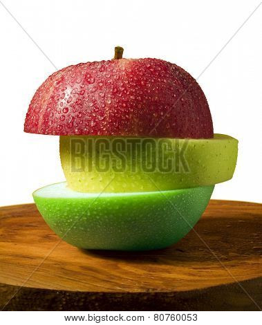 apple sliced