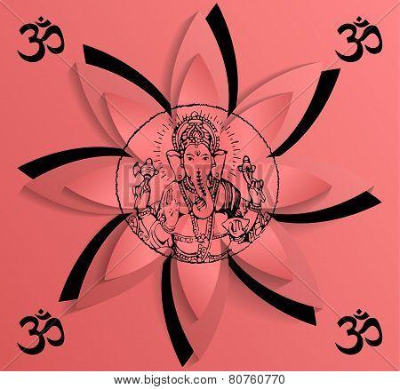 Ganesha, the symbol of OM