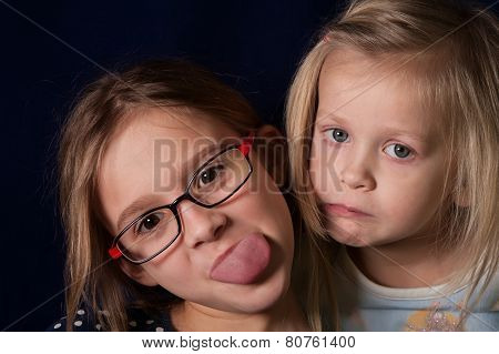 Girls Making Faces