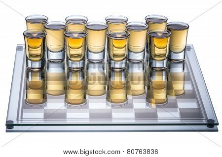 Shots On Checkerboard