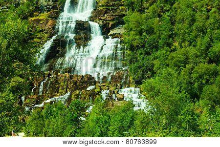 Tvindefossen Waterfall Near Voss, Norway