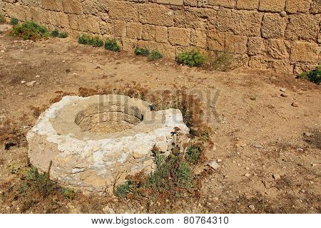 Historical Well in Caesarea Maritima National Park