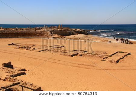 Hippodrome in Caesarea Maritima National Park