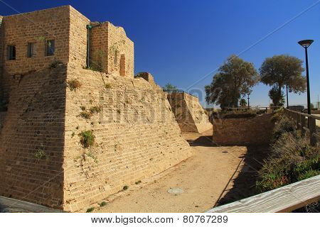 Castle Moat in Caesarea Maritima National Park