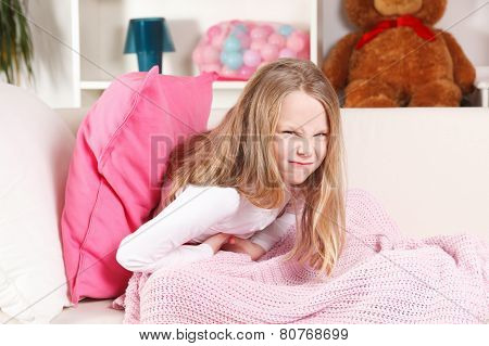 Child Having Stomach Ache