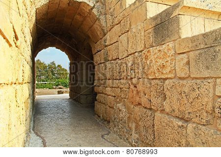 Amphitheater Entrance in Caesarea Maritima National Park