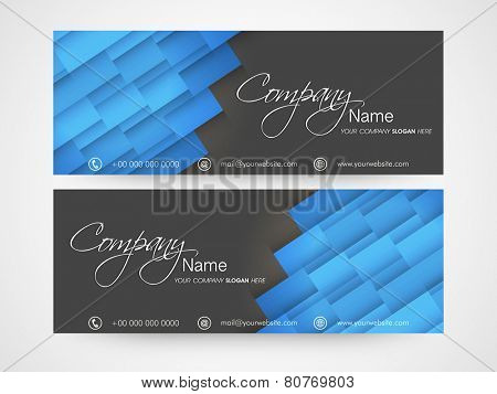 Business headers with Company's name and contact details.