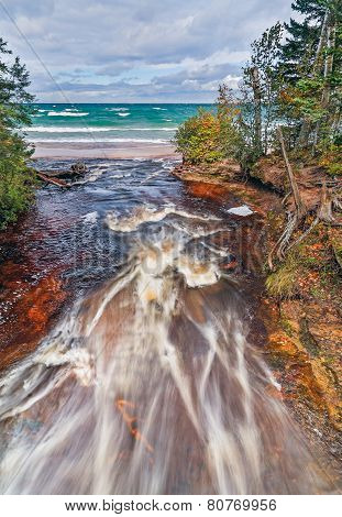 Hurricane River Meets Lake Superior