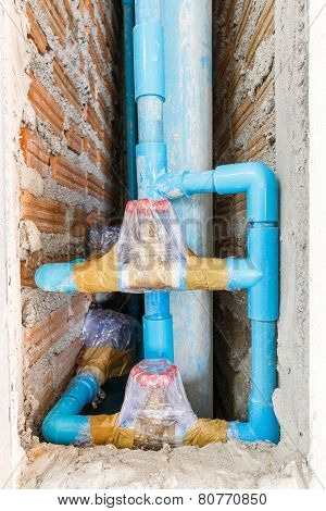 Tap Water Valve Wrapped For Cleanliness