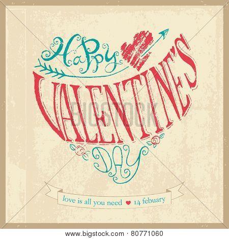 Vintage Valentine's Day hand lettering