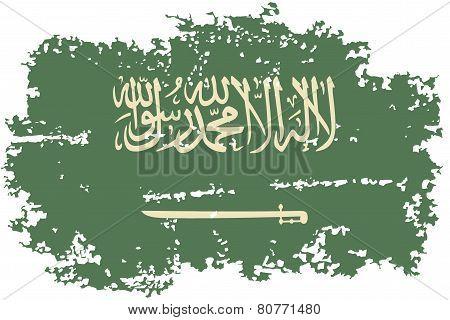 Saudi Arabia grunge flag. Vector illustration.