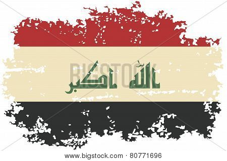 Iraqi grunge flag. Vector illustration.