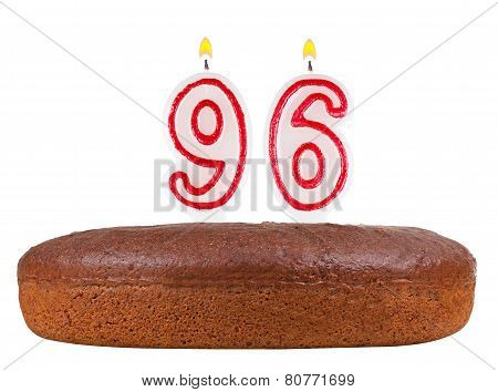 Birthday Cake Candles Number 96 Isolated