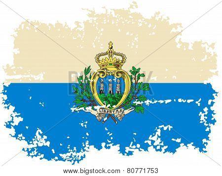 San Marino grunge flag. Vector illustration.