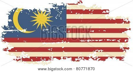 Malaysian grunge flag. Vector illustration.