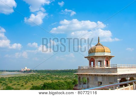 Taj Mahal from Agra Fort , Uttar Pradesh, India