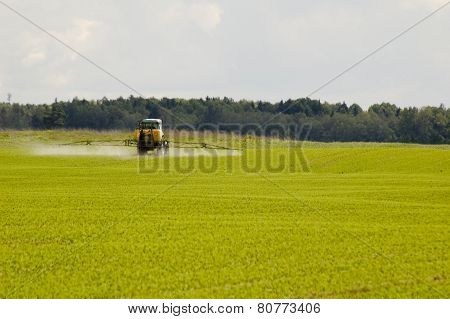 Tractor At The Field