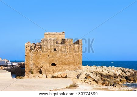 Medieval forMedieval fort of Pafos bay. Paphos, Cyprust of Pafos bay Cyprus