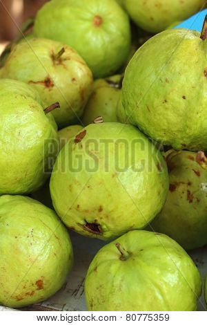 Guava Fruit On A Table In The Market